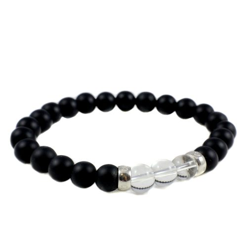 Bracelet Onyx And Crystal