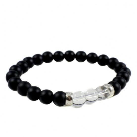 Bracelet Onyx And Crystal