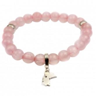 Bracelet Rose Quartz with Angel