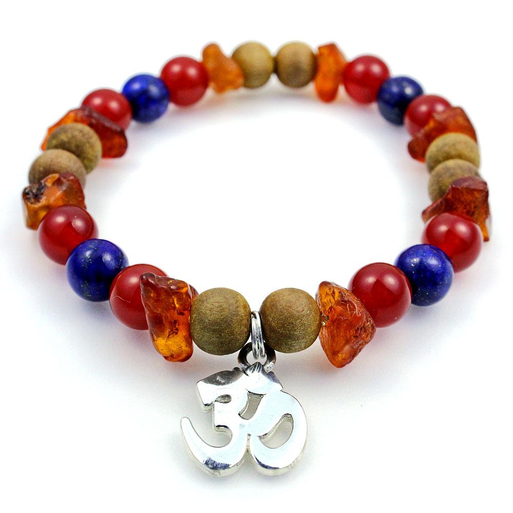 om bracelet with therapeutic gemstones imaginarius