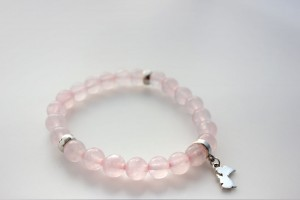 RoseQuartz Angel Bracelet