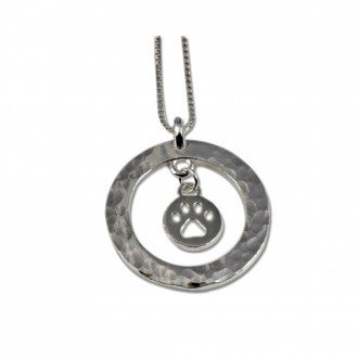 Charm Holder Pendant Sterling Silver