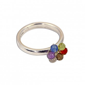 Chakra Ring Sterling Silver Organic Style