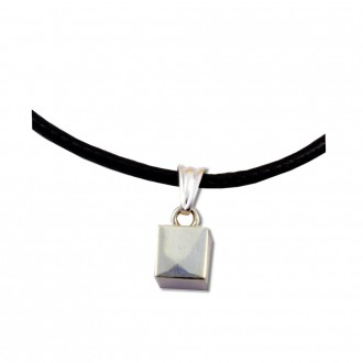 Cube Pendant Platonic Solids Sterling Silver