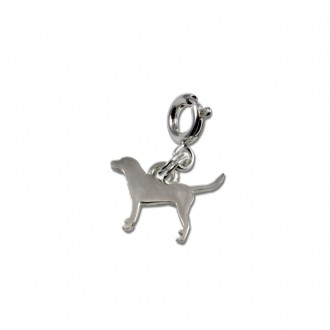 Dog Charm Sterling Silver