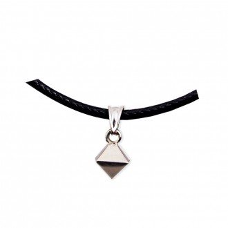Octahedron Pendant Platonic Solids Sterling Silver