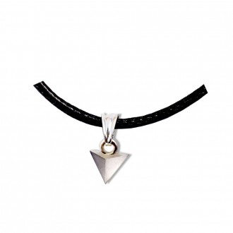 Tetrahedron Pendant Platonic Solids Silver