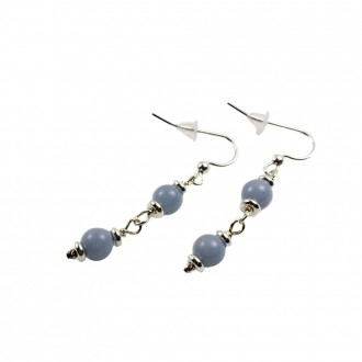 Angelite Earrings Sterling Silver