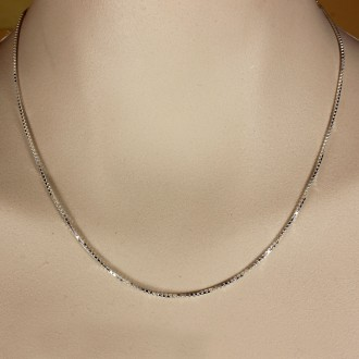 Sterling Silver Chain Box 1.2 mm 18 inches