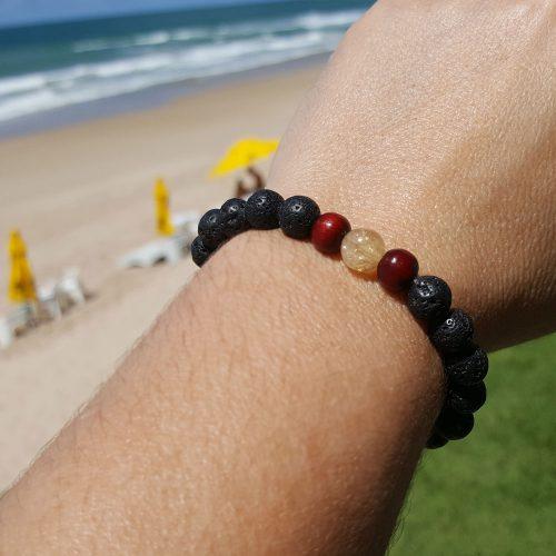 Citrine and Lava Stone Bracelet