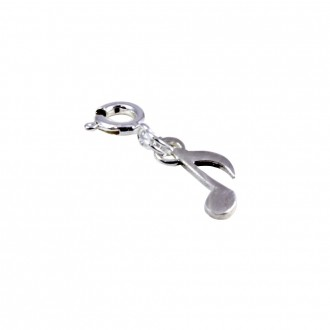 Music Note Charm Sterling Silver