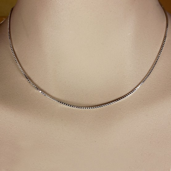 Sterling Silver Chain Box 1.2 mm 16 inches