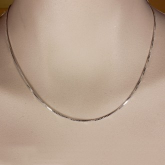 Sterling silver chain box style 1 mm 18 inches