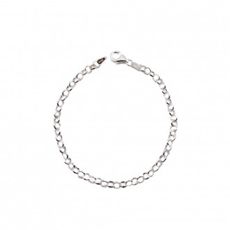 Bracelet Chain Sterling Silver Rolo Style 7.5 inches