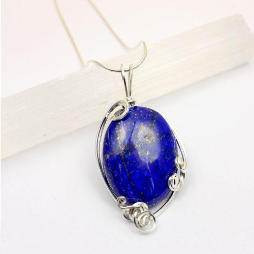 Lapis Lazuli Pendant Sterling Silver