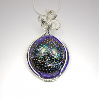 Orgonite Pendant with Azeztulite set in Sterling Silver