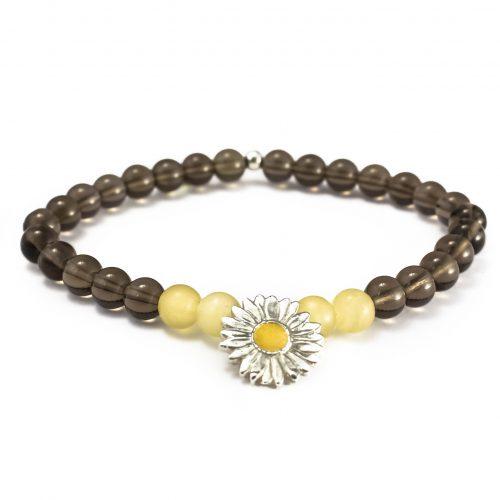 Bracelet Daisy Smoky Quartz Calcite