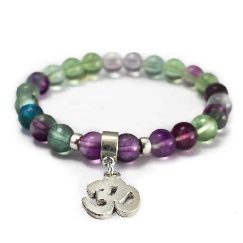 Bracelet Om Fluorite