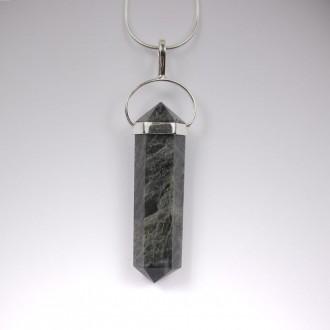 Iolite Crystal Pendant
